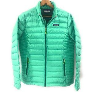 Patagonia Mint Green Puffer Jacket, NWOT, Large